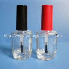 New Design 15ML Round Glass Nail Polish Bottle