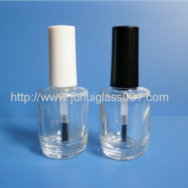 New Design 15ML Round Glass Nail Polish Bottle 2