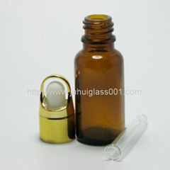 20ml茶色玻璃精油瓶配套花篮盖滴管