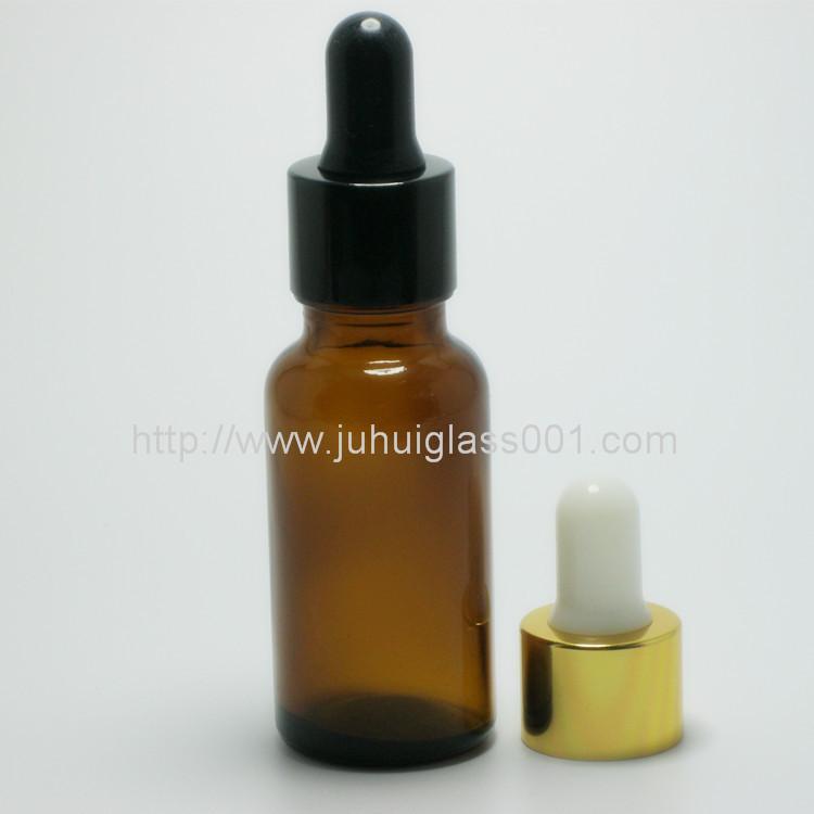 20ml茶色玻璃精油瓶配套花篮盖滴管 3