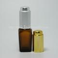 10ml茶色方形玻璃精油瓶香精