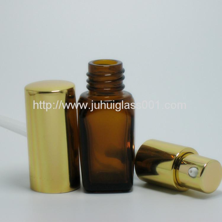 10ml茶色方形玻璃精油瓶香精瓶 4