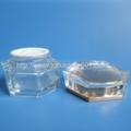 Hexagon 30g Glass Cream Jar with Acrylic Cap 2