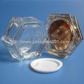 Hexagon 30g Glass Cream Jar with Acrylic Cap 3