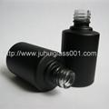 15ml黑色红色玻璃指甲油瓶甲油胶瓶