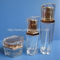 High Quality Hexagon Glass Lotion Bottle