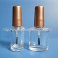 10ml扁圓形玻璃指甲油瓶