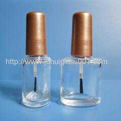 10ml扁圆形玻璃指甲油瓶