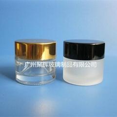 現貨供應10g玻璃膏霜瓶配套金色銀色黑色蓋子