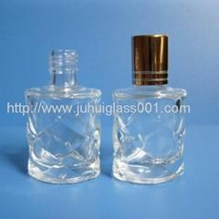 高口10ml格纹图案香水瓶配套金色小盖