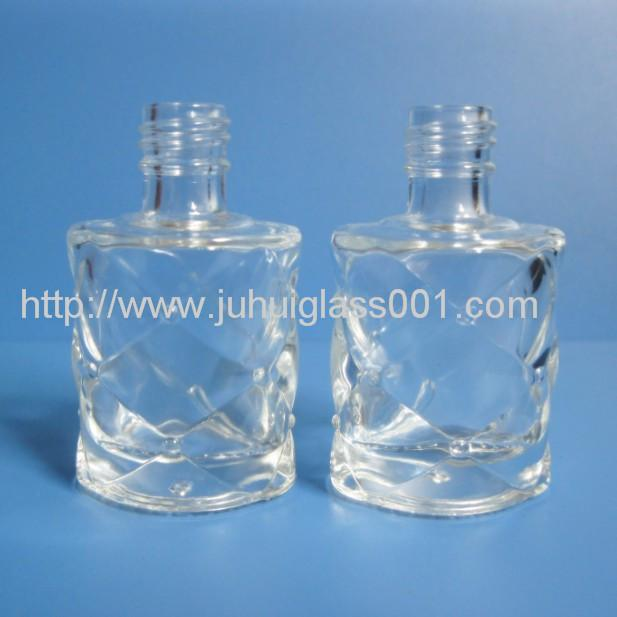 10ml Lattice Pattern Glass Perfume Bottle With Golden Lid 2