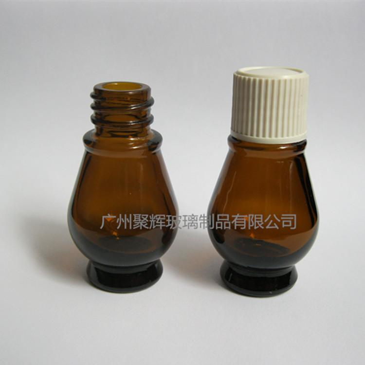 10ml Single Gourd Shaped Glass Essential Oil Bottle with Pipette  2