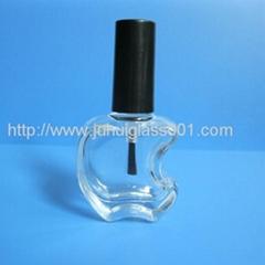 新款10ml苹果造型玻璃指甲油瓶香水瓶