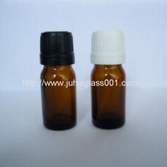 8ml圆柱形茶色玻璃精油瓶香精瓶