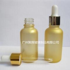 30ml金色玻璃精油瓶精华液滴管瓶