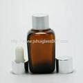 30ml茶色方形精油瓶配套电镀花盖 2