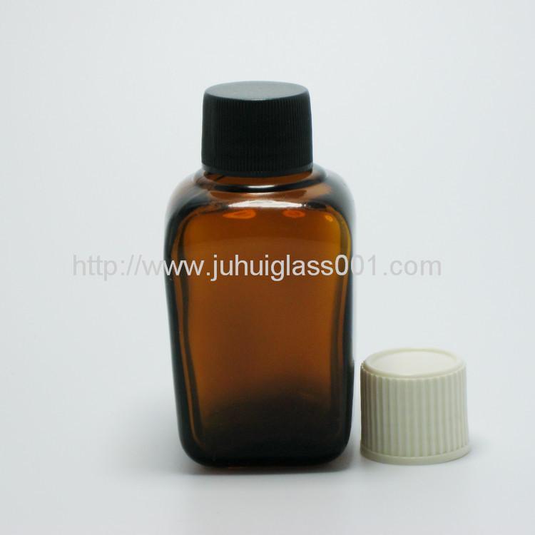 30ml茶色方形精油瓶配套电镀花盖 3
