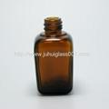 30ml茶色方形精油瓶配套电镀花盖 4