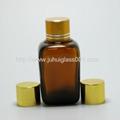 30ml茶色方形精油瓶配套电镀花盖 5