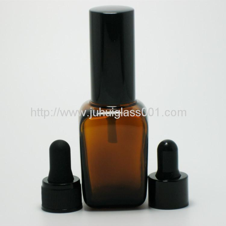 30ml茶色方形精油瓶配套电镀花盖 6
