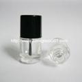 现货供应5ml圆柱形玻璃指甲油瓶小油漆瓶