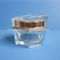 High Quality Hexagon 50g Glass Cream Jar