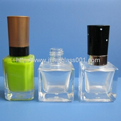 15ml Sqaure Glass Nail Polish Bottle With Cap&Brush