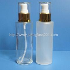 现货80ml 玻璃乳液瓶精华液瓶泵头
