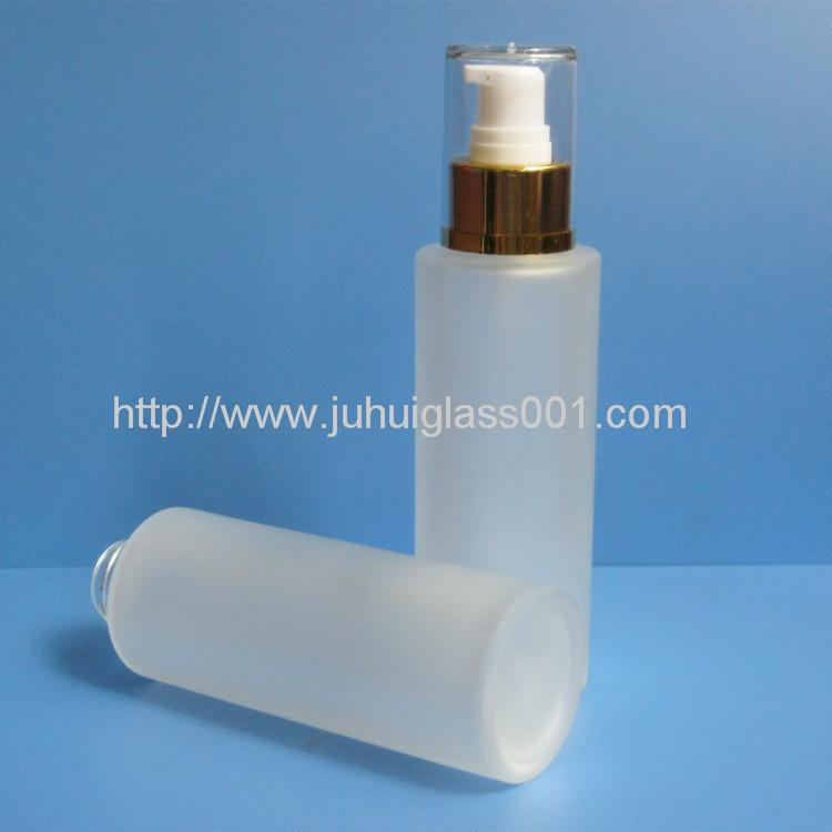 80ml Round Glass Lotion Bottle With Pump Sprayer 3