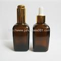 Amber Square Shape 50ml Glass Essential