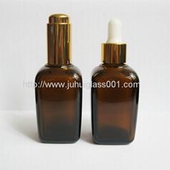 50ml方形茶色精油瓶配套压泵滴管胶头吸管