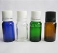 10ml蓝色绿色棕色白色玻璃精油瓶 2