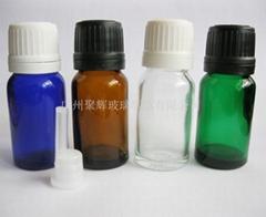 10ml藍色綠色棕色白色玻璃精油瓶