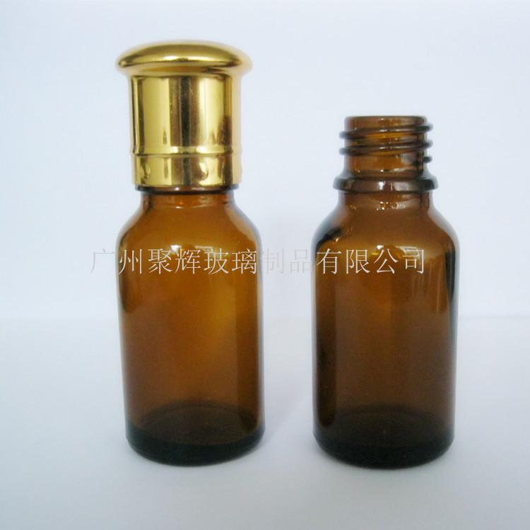 Brown Round 30ml Oil bottle with mushroom shaped cover 1