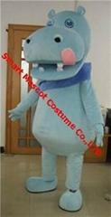 adult hippo mascot costume