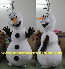 snowman olaf mascot costume