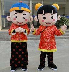 jin tong yu nv boy and girl mascot costume (Hot Product - 1*)