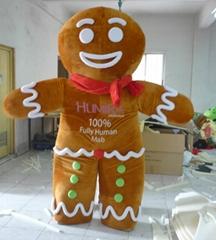 sm08 Gingerbread Man mascot costume