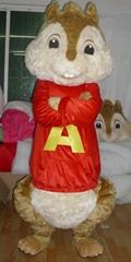 alvin chipmunks mascot costume