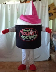 frozen yogurt mascot costume