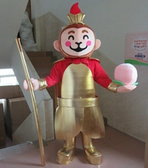 golden monkey king mascot costume for 2016 Chinese New year
