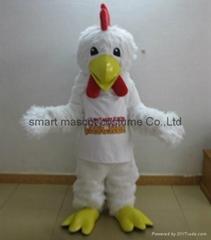 adult chicken mascot costume