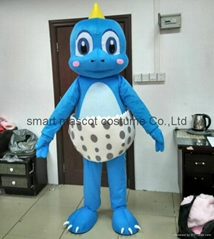 pink and blue dino egg dinosaur mascot costume