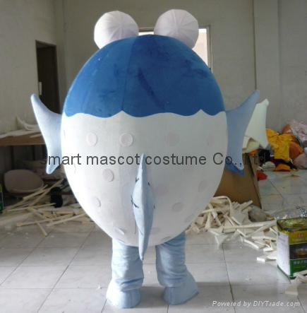 Puffer fish mascot costume sm 1057 smart mascot for Puffer fish costume