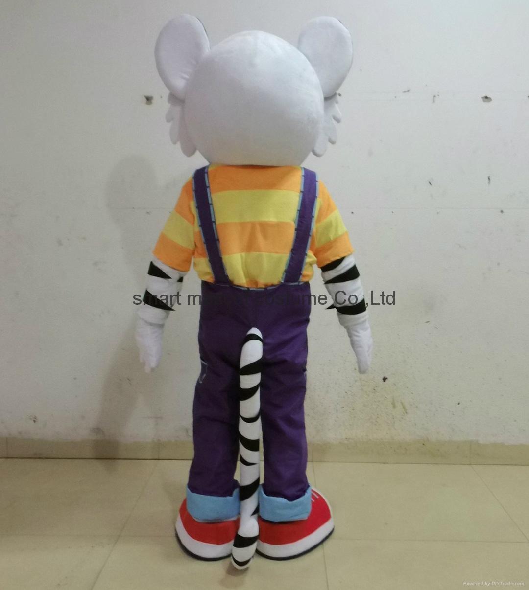 adult white tiger mascot costume