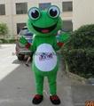 adult green frog mascot costume