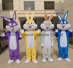 adult easter rabbit bunny mascot costume