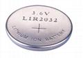 锂离子纽扣充电电池