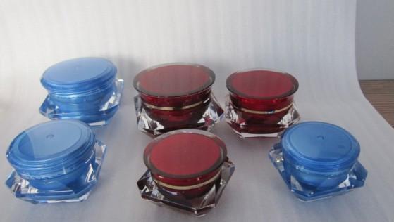 Acrylic 50g diamond cosmetic jar  2