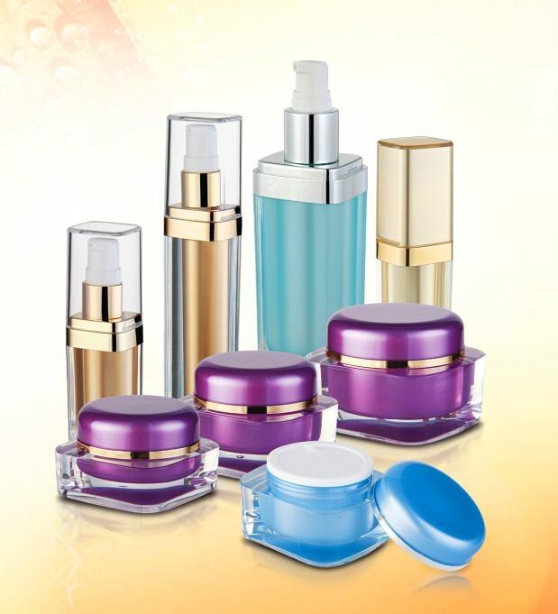 Acrylic plastic bottle , acrylic cream jar , plastic cosmetic container  5